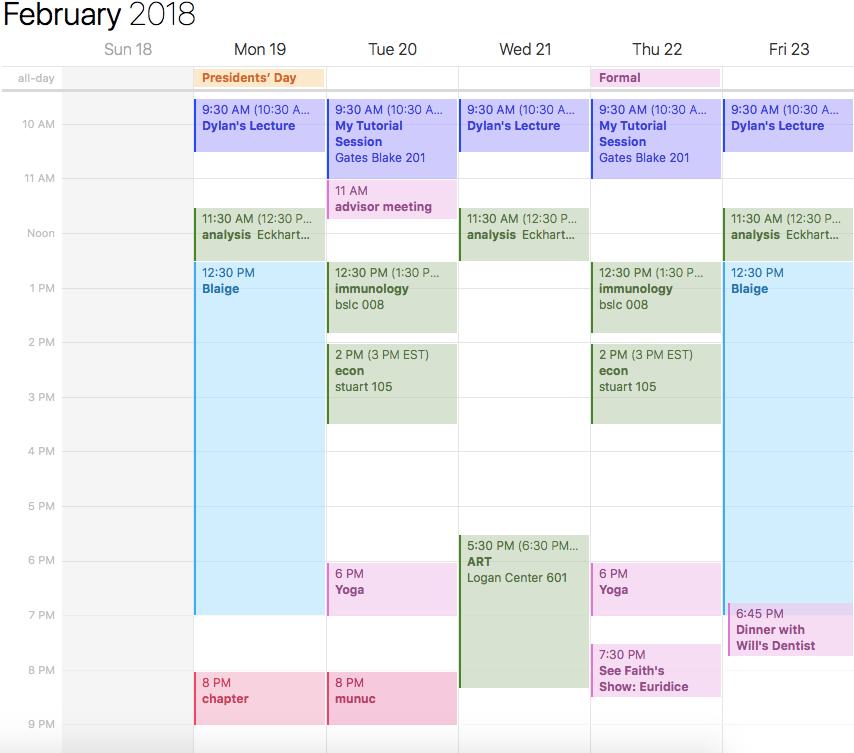 jessie calendar